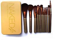 Кисти для макияжа 12 штук NAKED 4 , фото 1
