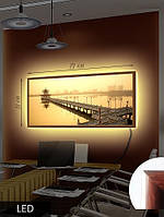 Картина с LED подсветкой Восточный помост