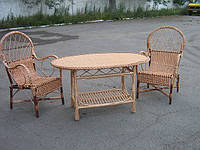 """Плетеный стол из лозы """"Большой овальный"""""""