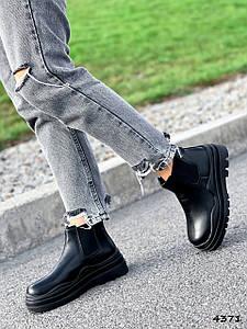 Ботинки женские Bale черный эко-кожа ))