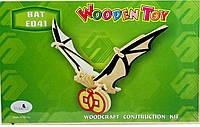 Деревянный 3Д пазл Летучая мышь Е041 Sea Land