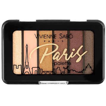 Палетка тіней для повік Vivienne Sabo PARIS (6 кольорів) - №2