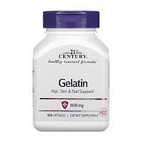 21st Century Gelatin 600 mg 100 caps