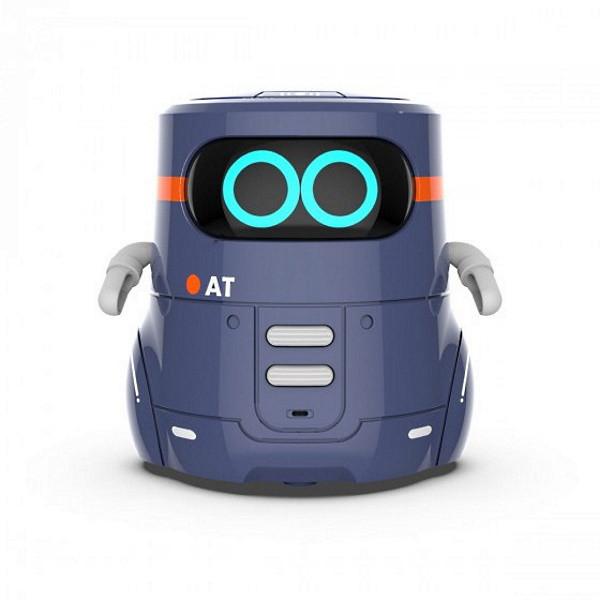 AT-Robot Розумний робот з сенсорним управлінням і навчальними картками (темно-фіолетовий), AT002-02-UKR