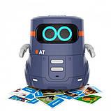 AT-Robot Розумний робот з сенсорним управлінням і навчальними картками (темно-фіолетовий), AT002-02-UKR, фото 4