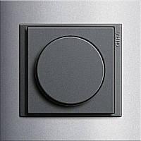 Светорегулятор поворотный 400 Вт Gira Event Алюминий/Антрацит