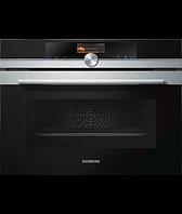 Компактный духовой шкаф электрический с микроволновой печью Siemens CM656GBS1