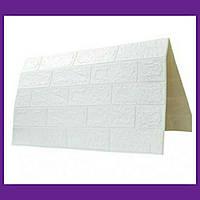 Самоклеючі 3D панелі декоративні шпалери Wall Sticker 700х770х5мм білий цегла. 3д панелі цегла