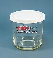 """Посуд (склянку) скляний 0,7 л круглий з білою пластиковою кришкою """"Igloo"""" Borgonovo (Італія)"""