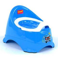 Горшок со крышкой Bimbo, голубой