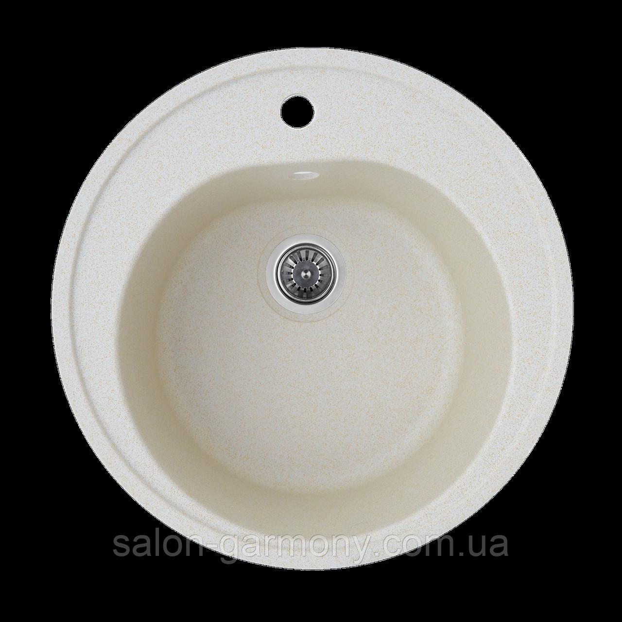 Гранітна мийка для кухні Platinum 510 LUNA матова Пісок