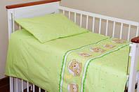 Комплект постельного белья в кроватку. Мишка в круге