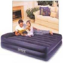 Надувная двуспальная кровать Intex 66702, размер 208х163х50 см, с встроенным электрическим насосом, фото 3
