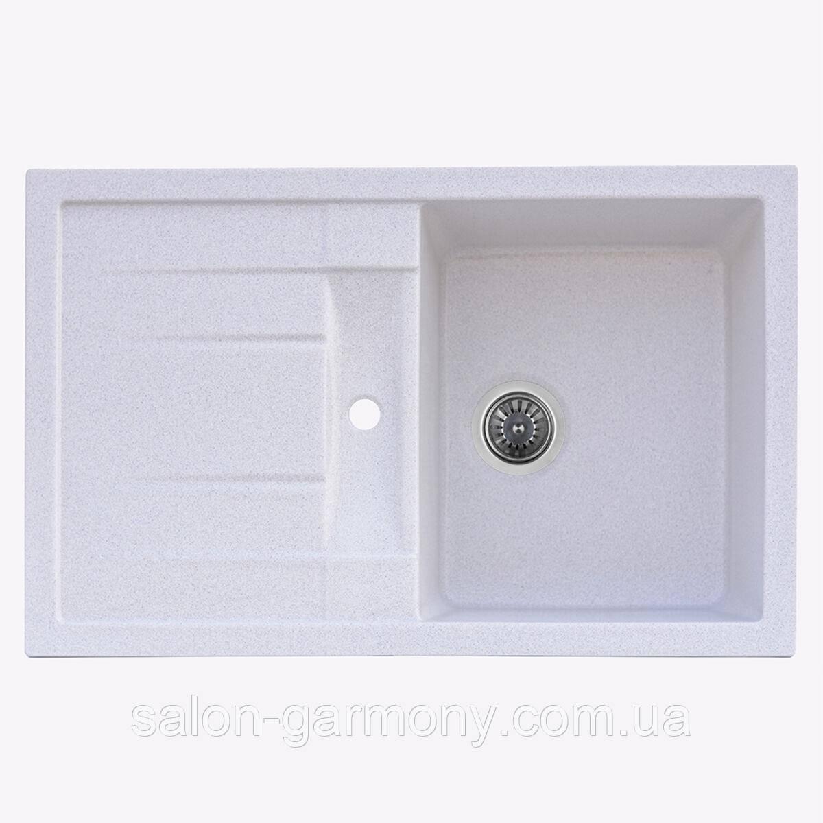 Гранітна мийка для кухні Platinum 7850 PRETSO глянець Топаз