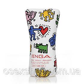 Мастурбатор Tenga Keith Haring Soft Case Cup (мягкая подушечка) сдавливаемый