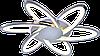 Люстра світлодіодна акрилова Sirius MX10014/6C CR (RGB) 144W+8W, фото 4