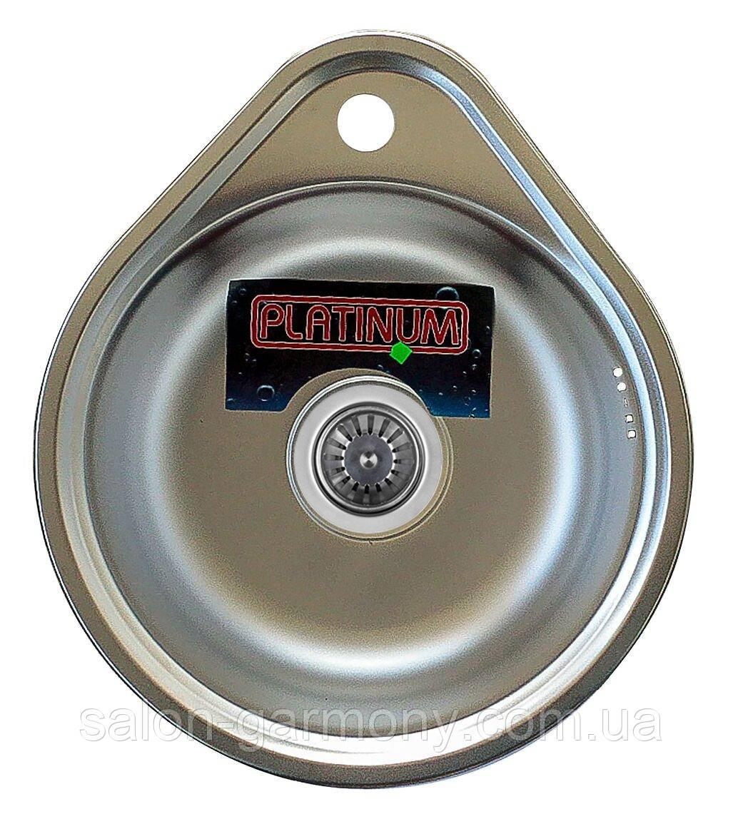 Кухонная мойка из нержавеющей стали Platinum 4539 САТИН 0,6 / 170