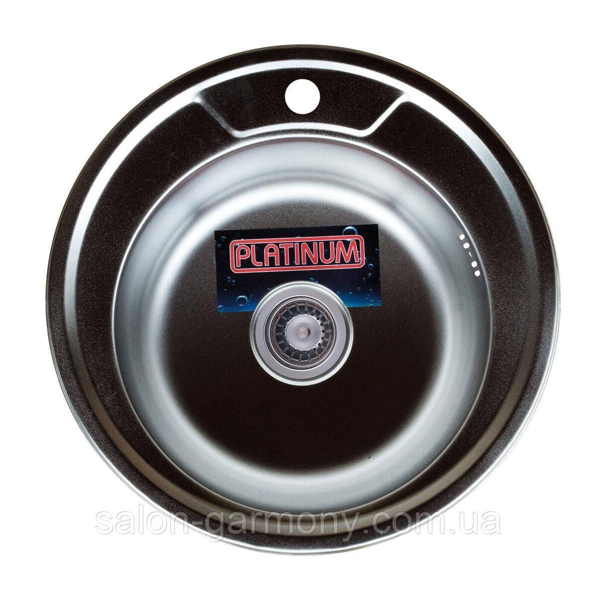 Кухонна мийка з нержавіючої сталі Platinum 490 САТИН 0,6 / 170