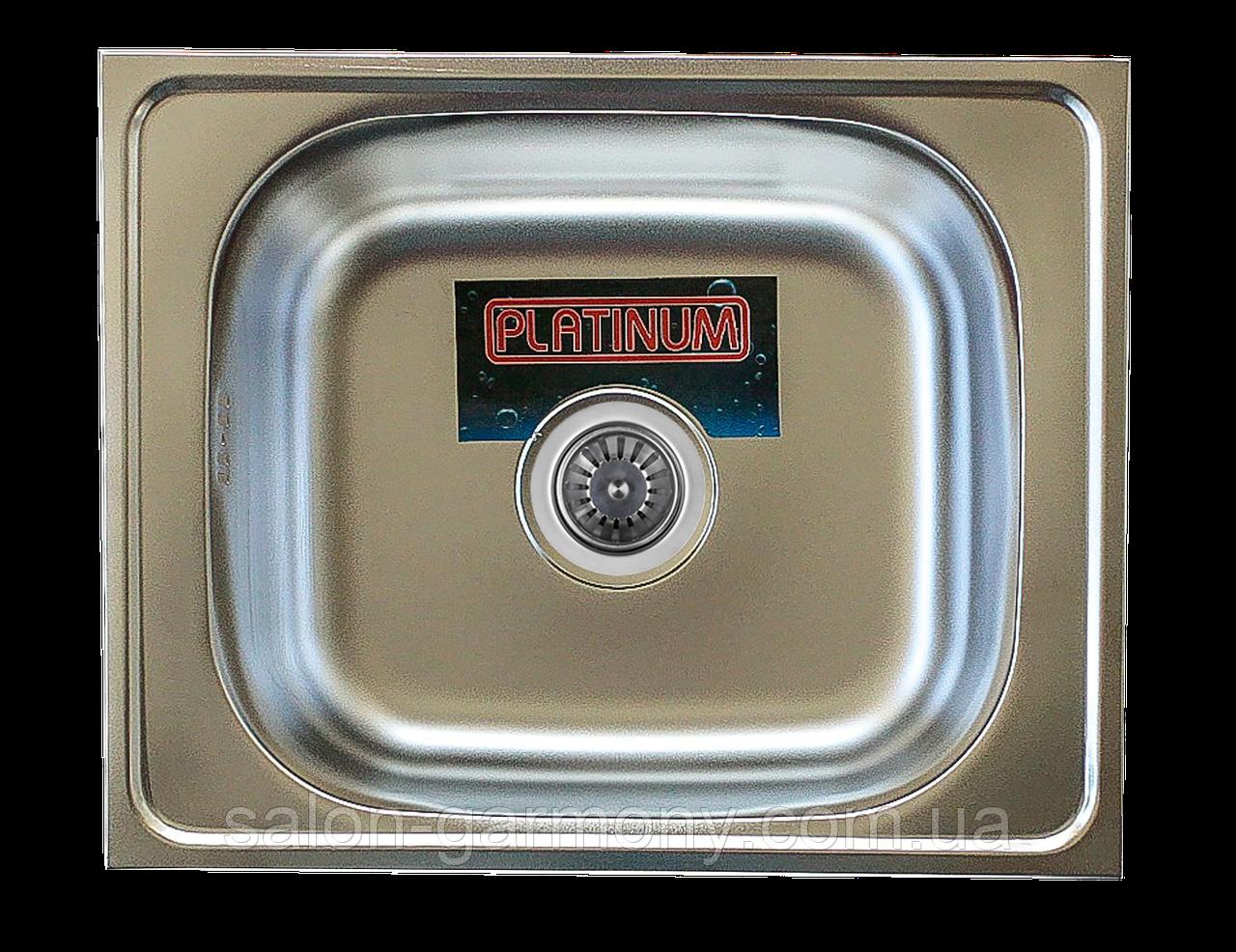 Кухонная мойка из нержавеющей стали Platinum 4050 САТИН 0,7 / 160