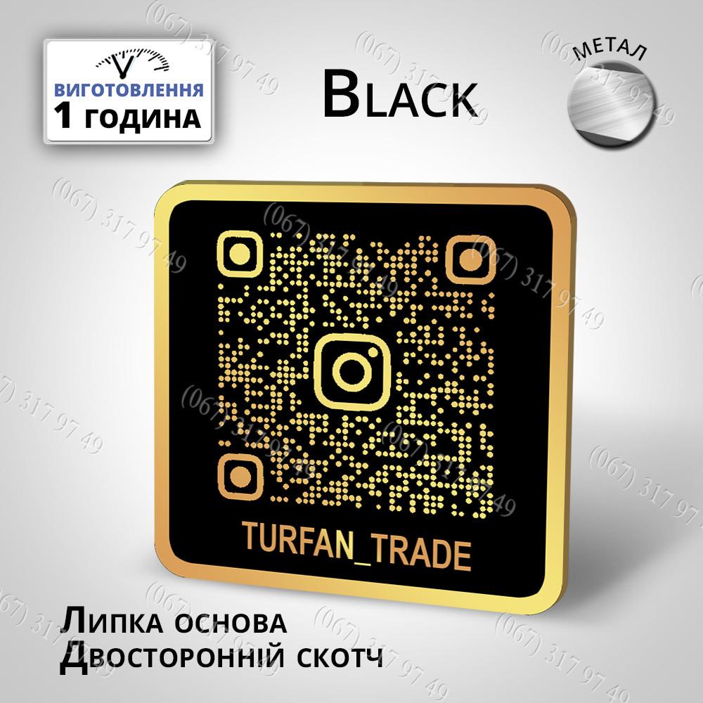 Металлическая Инстаметка, вывеска-визитка, инстаграм сканер, Instametka, Instascanner, Instagram визитка