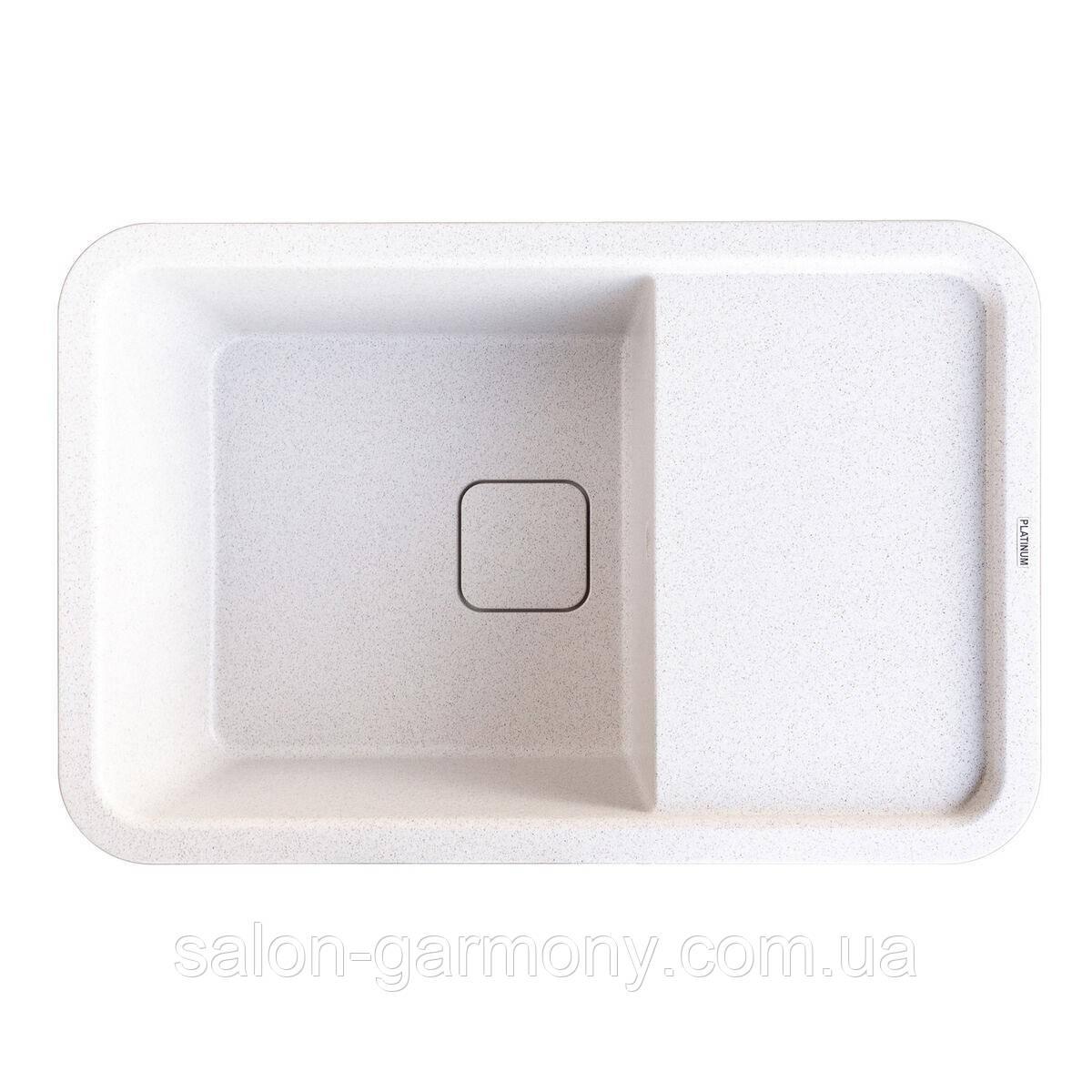 Гранітна мийка для кухні Platinum 7850 CUBE матова Топаз