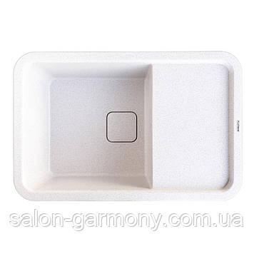 Гранитная мойка для кухни Platinum 7850 CUBE матовая Топаз
