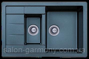 Гранитная мойка для кухни Platinum 7850W TOSKANA матовая Черная