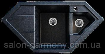 Гранитная мойка для кухни Platinum 9950 PANDORA матовая Черная