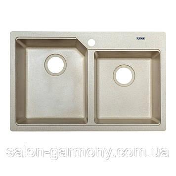 Гранитная мойка для кухни Platinum 7850 HARMONY матовая Графит