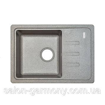 Гранитная мойка для кухни Platinum 6243 LIANA матовая Графит