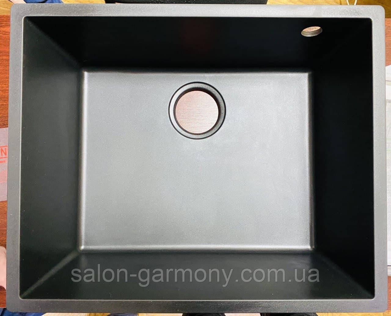 Гранитная мойка для кухни Platinum 5444 OASIS матовая Графит