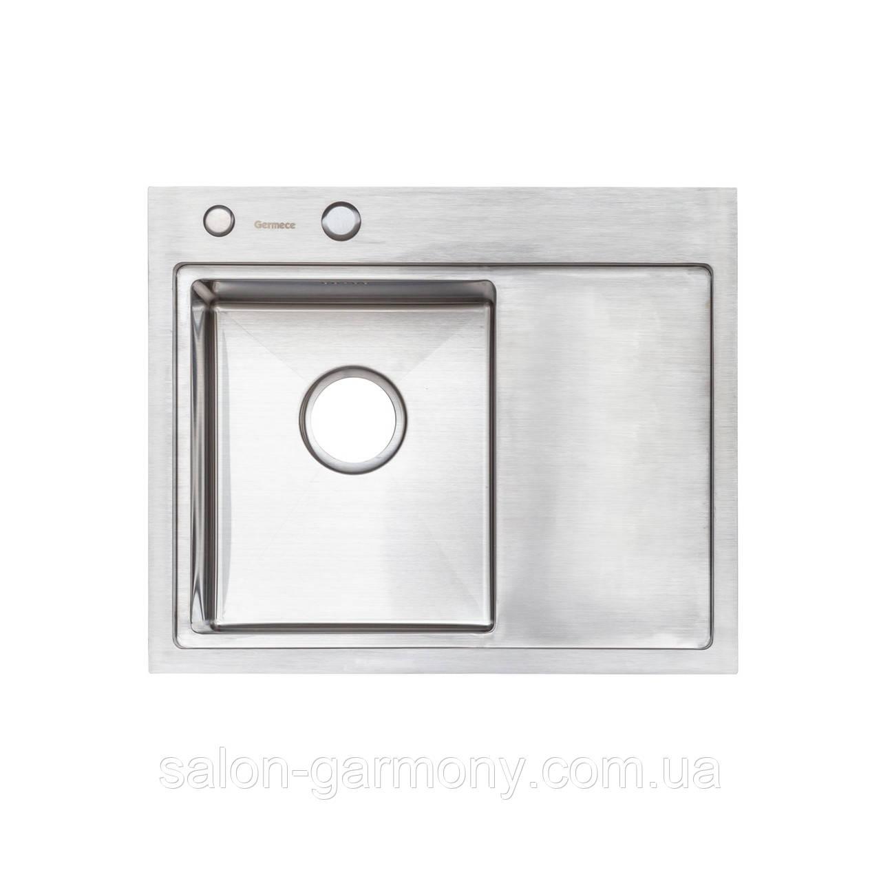 Кухонная мойка Platinum Handmade 58 * 48/220 L 3,0 / 1,5 мм корзина и дозатор в комплекте