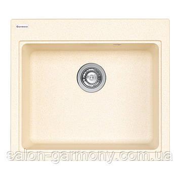 Гранитная мойка для кухни Platinum 5852 VESTA матовая Песок