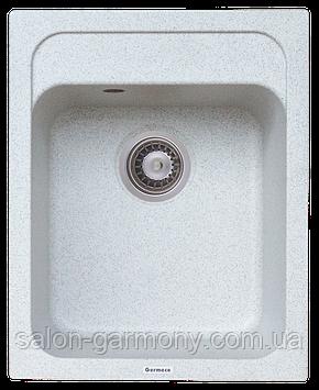 Гранитная мойка для кухни Platinum 4050 KORRADO матовая Серый металлик
