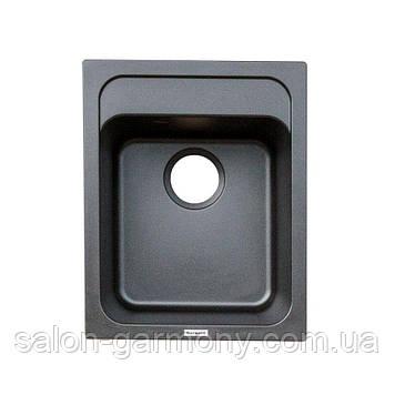 Гранитная мойка для кухни Platinum 4050 KORRADO матовая Черная