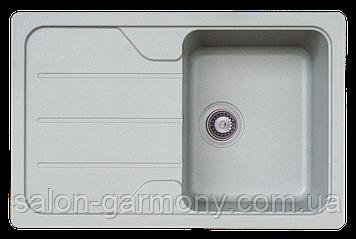 Гранитная мойка для кухни Platinum 7850 VERONA матовая Серый муссон