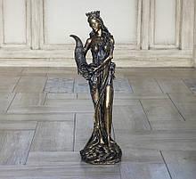 Статуэтка Фортуна большая 62 см из полистоуна бронзового цвета