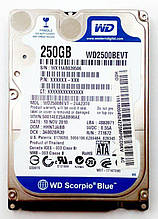 Жесткий диск  Western Digital Scorpio Blue WD2500BEVT 250 bGb SATA б.у.