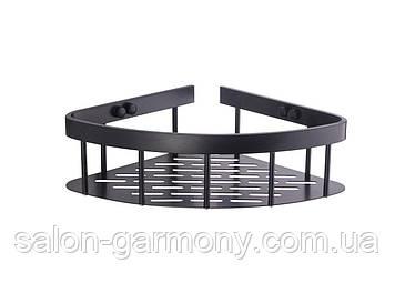 Поличка для ванної кутова чорна Germece 5507-1 PL, алюміній