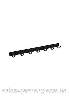 Тримач для рушників на 7 гачків чорний Germece 5516-7PL, алюміній