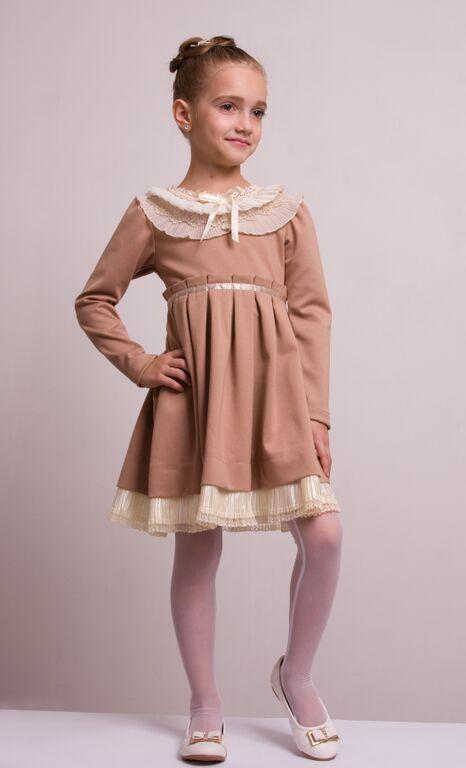 """Детское нарядное платье """"Мелисса"""" бежевое"""