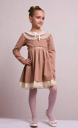 """Детское нарядное платье """"Мелисса"""" бежевое, фото 2"""