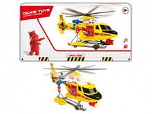 """Игрушка вертолет для детей """"Воздушная полиция"""" с носилками, свет, звук, 41 см, DICKIE TOYS"""
