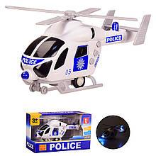 Іграшка вертоліт на батарейках, поліцейський, світло,звук, 22см, Іграшкові вертольоти