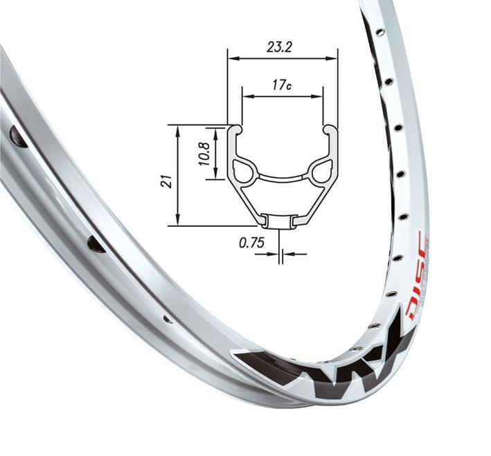 """Обод для велосипеда для велосипеда Mach1  MX DISC, 26"""" 32отв. AV білий"""