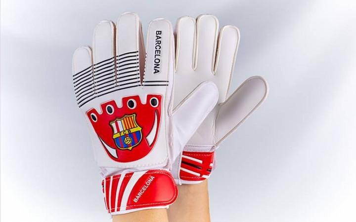 Рукавички воротарські юніорські FB-0029-11 BARCELONA (PVC, р-р 5-7, синій-жовтий-червоний) (6)