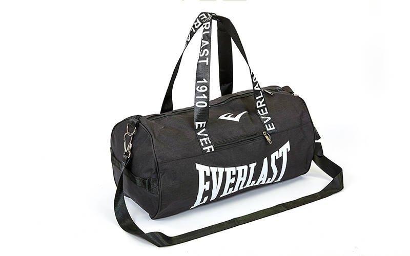 Сумка для спортзала Бочонок EVERLAST GA-0155 (полиэстер, р-р 50х25х25см,) (Черный)
