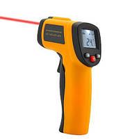 Инфракрасный цифровой термометр, пирометр. Бесконтактный инфракрасный термометр с ЖК-дисплеем. Код: КЕ433