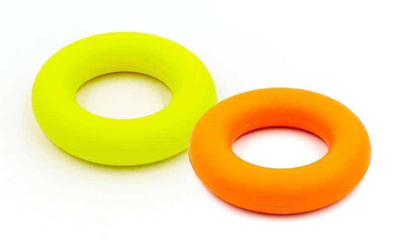Эспандер кистевой Кольцо (1шт) FI-5107-30LB (резина, d-9см,нагрузка 30LB(13,5кг), желтый, оранжевый)
