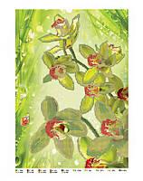 Схема для вышивки бисером или крестиком цветы, Лимонная Орхидея, фото 1